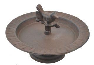 "Decorative Cast Iron Pedestal Bird Feeder Chickadee 8"" Wide"