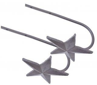 Metal Curtain Tie Backs Star Design - Pair Of 2