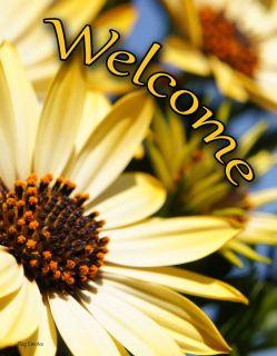 Flag Emotes - Double Sided Garden Flag - Sunflower Welcome