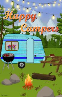 Flag Emotes Double Sided Garden Flag Happy Campers