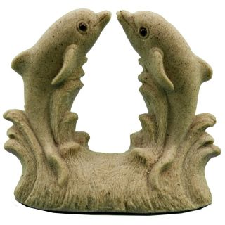 "Mr. Sandman Jumping Dolphins Sand Sculpture Figurine Dol09 - 5"" Tall"
