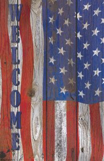 Flag Emotes Double Sided Garden Flag - Welcome Americana
