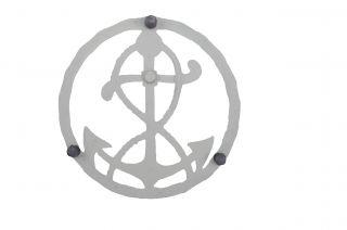 "Nautical Cast Iron Ships Anchor Trivet 7.75"" Wide"