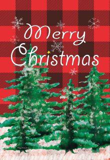 Flag Emotes - Double Sided Garden Flag - Merry Christmas Flannel